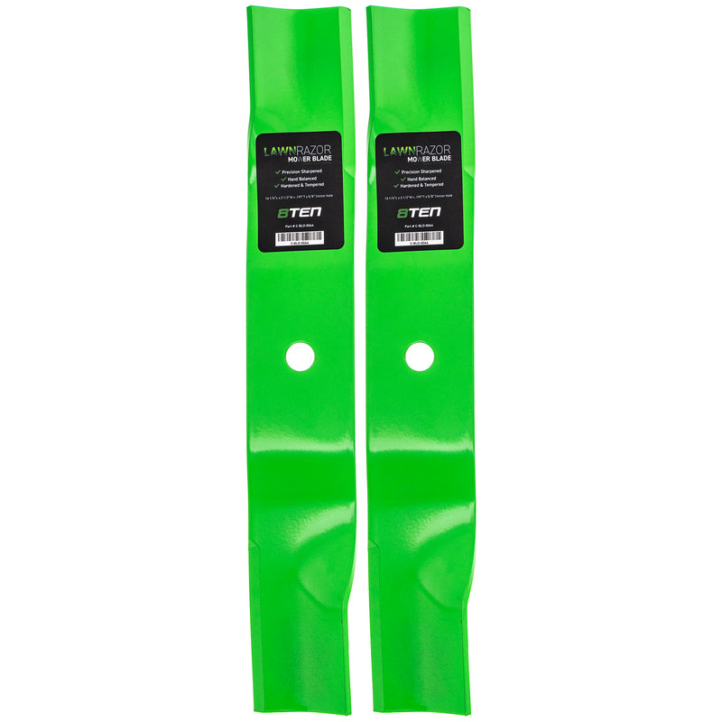 LawnRAZOR High-Lift Lawn Mower Blade Set 2-Pack for zOTHER Stens STEINER Oregon MTD Cub 8TEN 810-CBL2286D