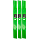 LawnRAZOR High-Lift Lawn Mower Blade Set 3-Pack for Stens Oregon MTD John Deere AM102402 8TEN 810-CBL2208D