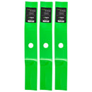 LawnRAZOR High-Lift Lawn Mower Blade Set 3-Pack for Oregon Murray MTD Husqvarna 92117E701 8TEN 810-CBL2214D