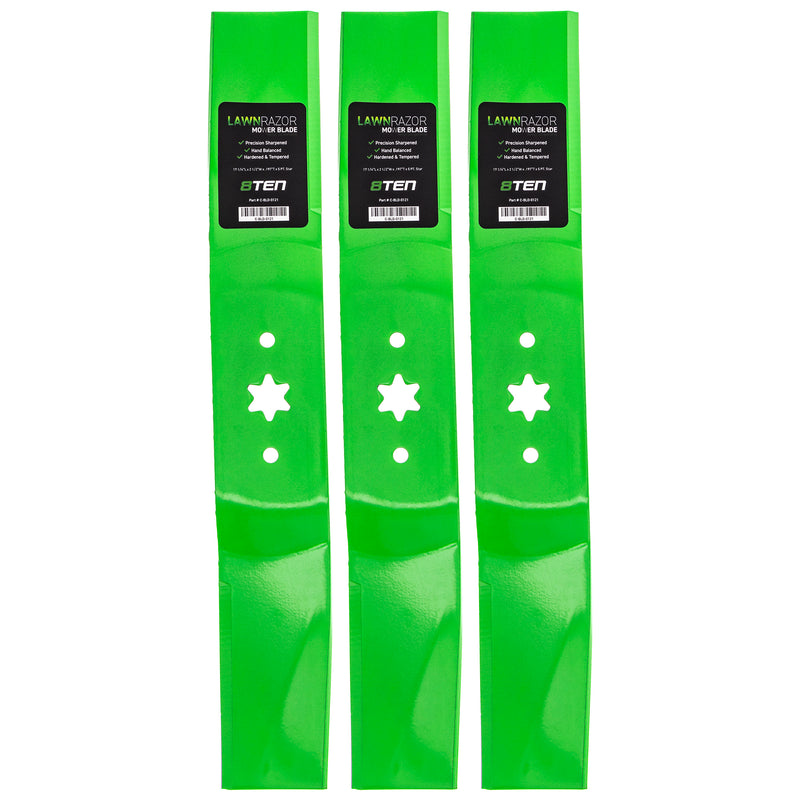 LawnRAZOR High-Lift Lawn Mower Blade Set 3-Pack for zOTHER Stens Oregon MTD Cub Cadet 8TEN 810-CBL2343D