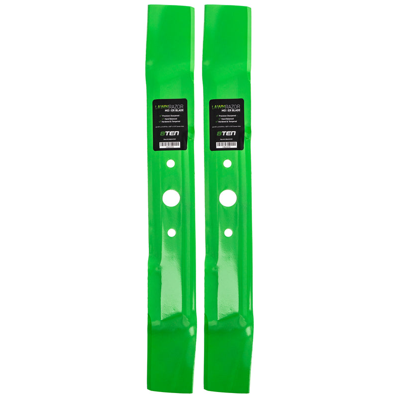 LawnRAZOR Lawn Mower Mulching Blade set 2-Pack for zOTHER Stens Oregon John Deere M125413 8TEN 810-CBL2344D