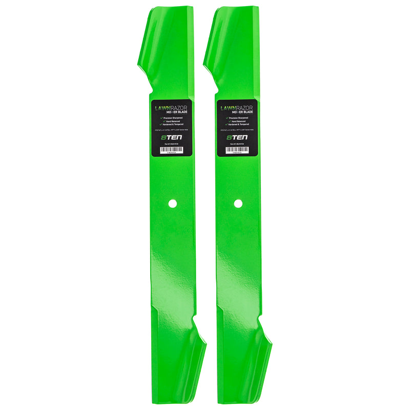 LawnRAZOR High-Lift Lawn Mower Blade Set 2-Pack for zOTHER Stens Polaris Oregon Murray 8TEN 810-CBL2348D