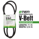 8TEN 810-CBL2238T Drive Belt for zOTHER Stens MTD Cub Cadet