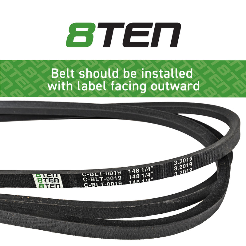 8TEN Deck Belt TCU18602 SC-157 B1TCU13198 B1SC157