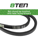 8TEN Deck Belt JT-9886 CO-185 B1CO185 95555 75-055