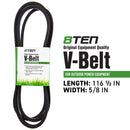 8TEN 810-CBL2298T Deck Belt for MTD John Deere TCU13195 265-181
