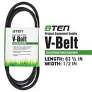 8TEN 810-CBL2219T Deck Belt for Stens Oregon Murray MTD 37X63