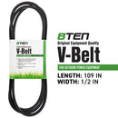 8TEN 810-CBL2344T Deck Belt for Cub Cadet Massey Ferguson MTD Toro