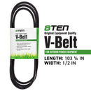8TEN 810-CBL2345T Deck Belt for Cub Cadet MTD Rover Troy-Bilt