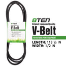 8TEN 810-CBL2388T Deck Belt for Toro Exmark Stens Oregon MTD Cub