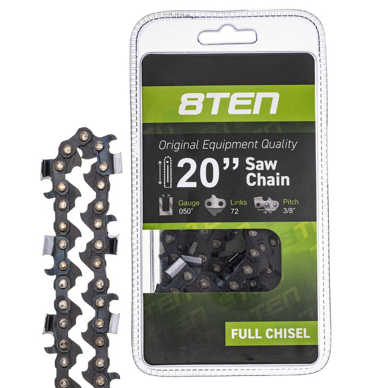 Chainsaw Chain for Windsor Stens Oregon Husqvarna GB B1DFC50S072 A50C-1PL72 A1LM-72-ST 8TEN 810-CCC2224H
