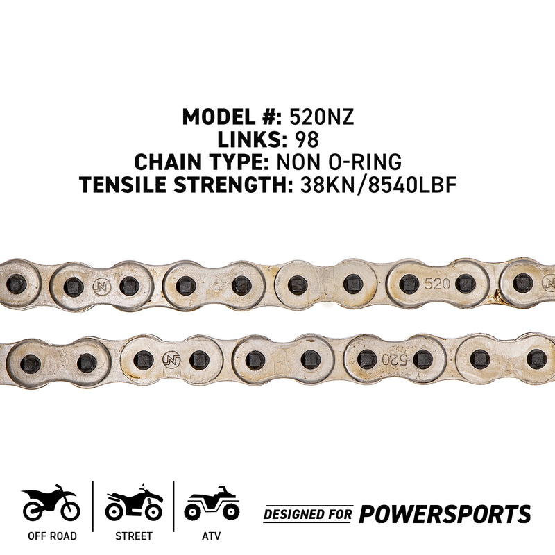 Sprocket Chain Set for Yamaha XT250 15/47 Tooth 520 Front Rear Combo
