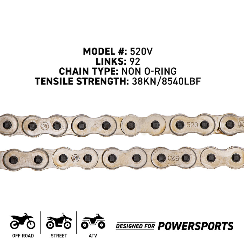 NICHE 519-CDC2238H Drive Chain for Polaris Victory Yamaha TY350