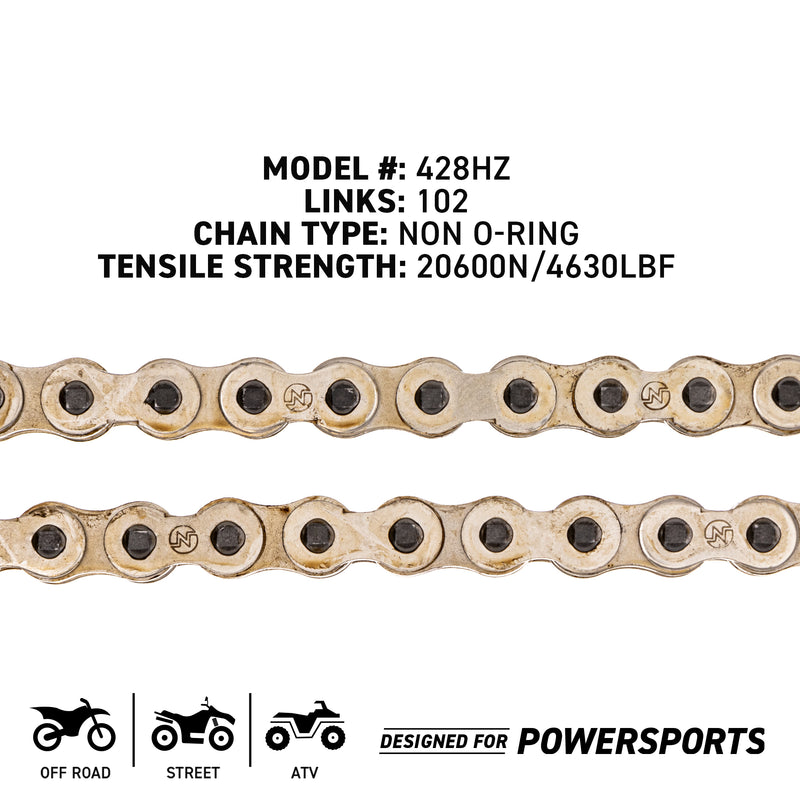 NICHE 519-CDC2211H Drive Chain for Kawasaki RS100 EZ90 CT125 Citi