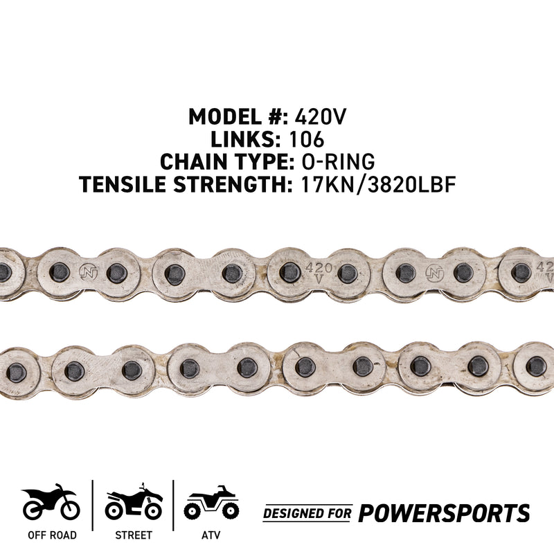 NICHE 519-CDC2446H Drive Chain for zOTHER Honda XR80R MB5 GT80 Grom