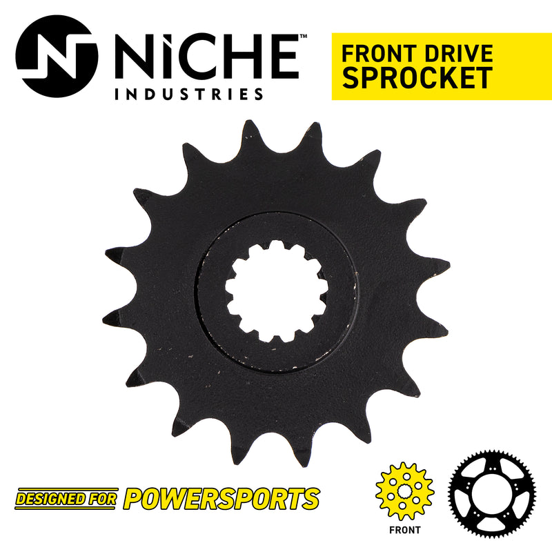 NICHE 519-CDS2233P Front Drive Sprocket for Yamaha YZF750R YZF FZ6