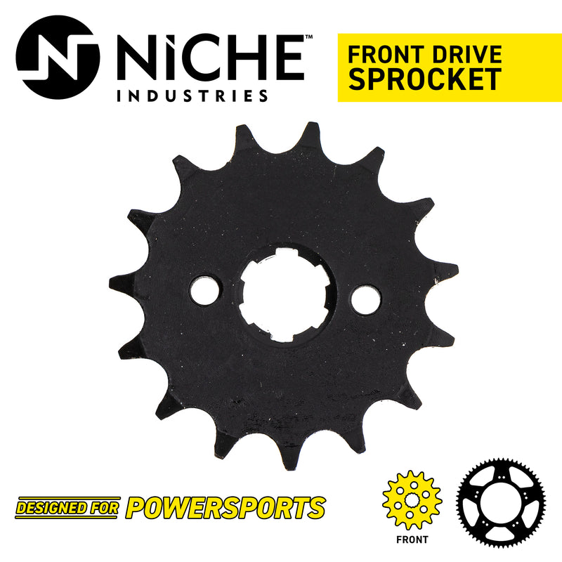 Sprocket Chain Set for Honda XL100S 15/42 Tooth 428 Front Rear Combo