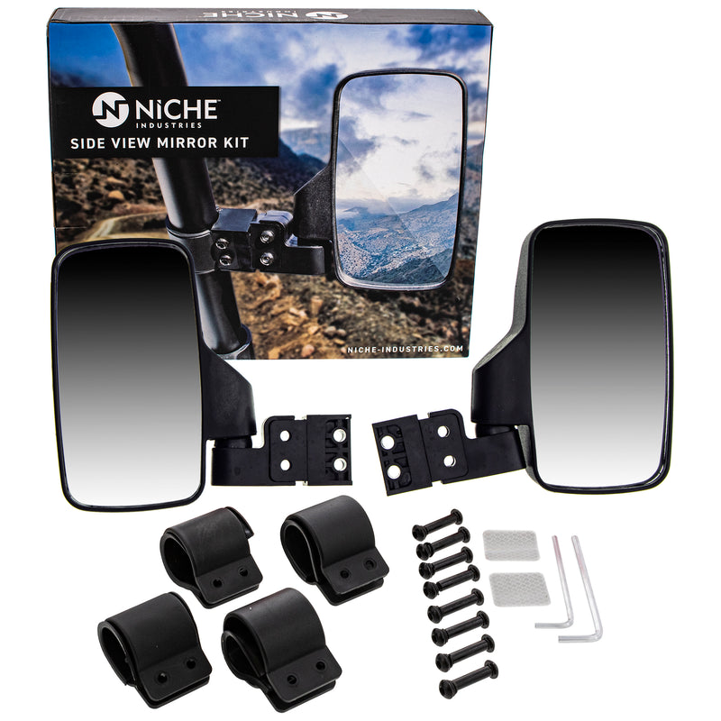 NICHE MK1002348 Side and Rear View Mirrors for Toolcat Pioneer