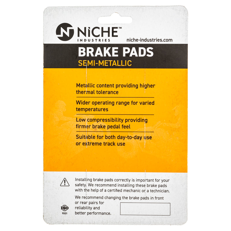 NICHE 519-KPA2227D Brake Pad Set for zOTHER Polaris Xpedition