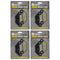 Brake Pad Set 4-Pack for Polaris Sportsman Scrambler 2203628 2204088 2205606 1911279 NICHE 519-KPA2276D