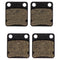 Brake Pad Set 2-Pack for Yamaha Suzuki Polaris Kawasaki Wolverine Warrior Vinson Raptor NICHE 519-KPA2283D