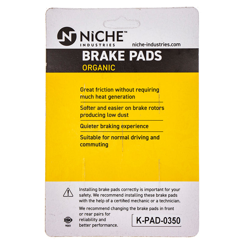 NICHE Brake Pad Set BMW K1200LT 34117663764 34217680375 Complete