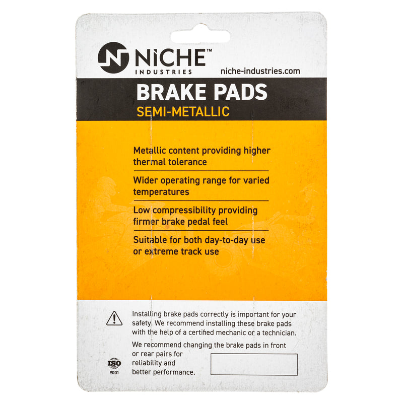 NICHE Brake and Parking Pad Set Honda VFR1200FD 06436-MEH-006 Complete