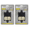 Brake Pad Set 2-Pack for Yamaha 8DF-W0046-01-00 NICHE 519-KPA2683D