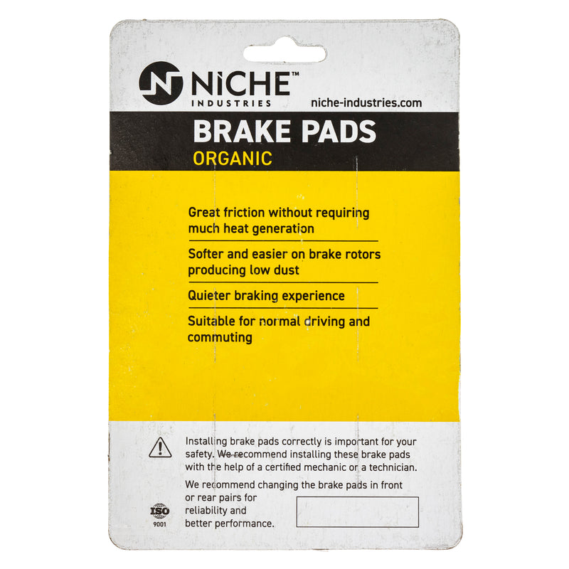NICHE 519-KPA2692D Brake Pad Set 2-Pack for Yamaha Royal