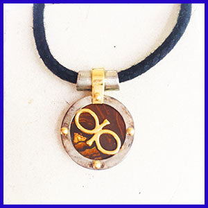 Boulder opal window pendant