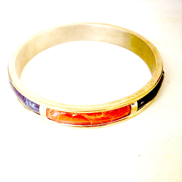 Brass crocodile bangle