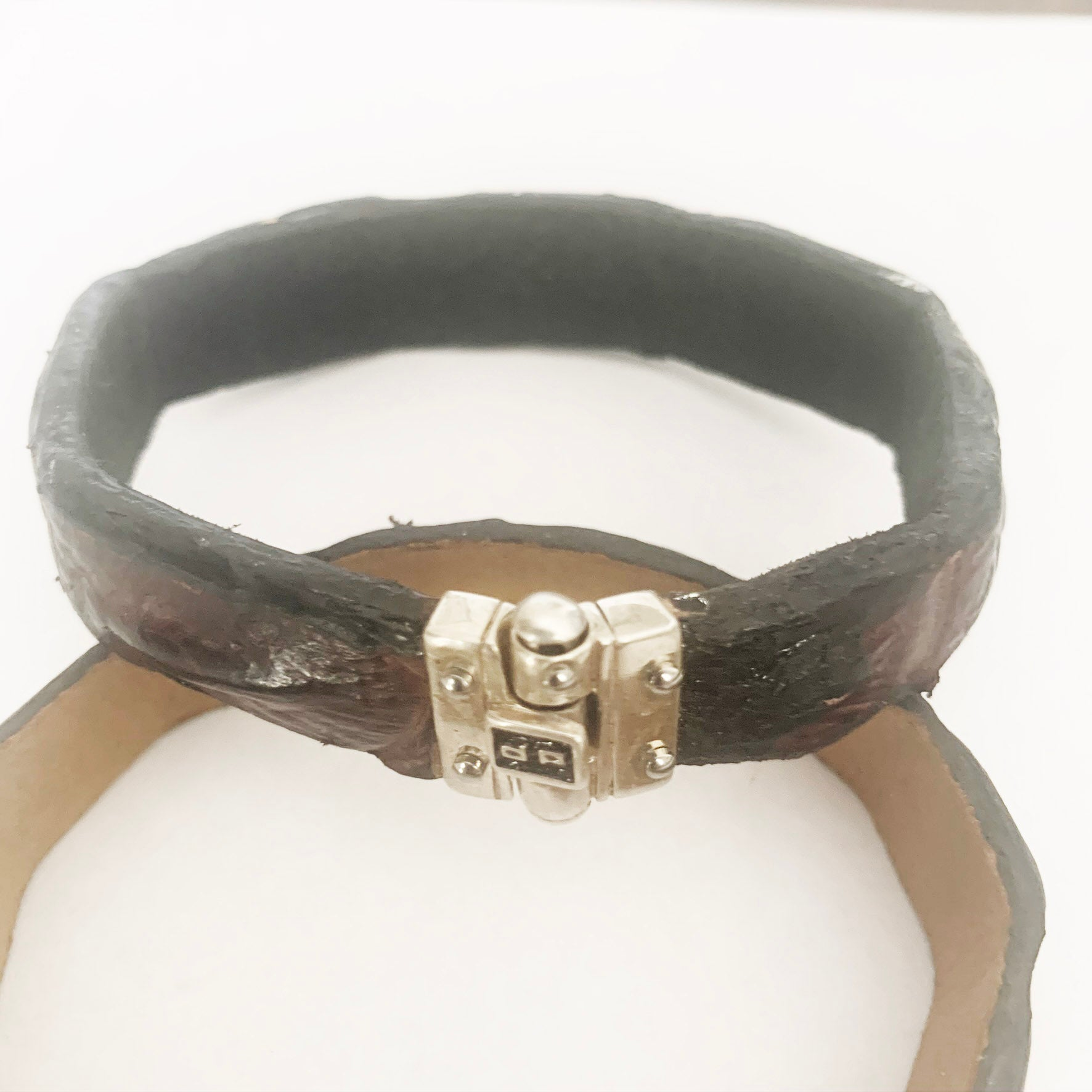 Men's crocodile bracelet