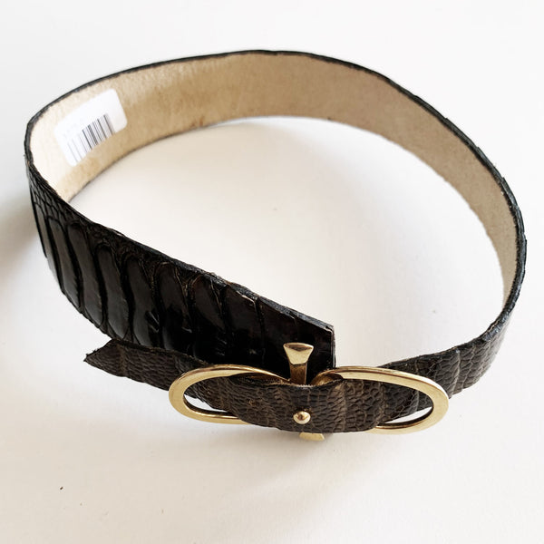 Depazzi exotic leather wedge chokers