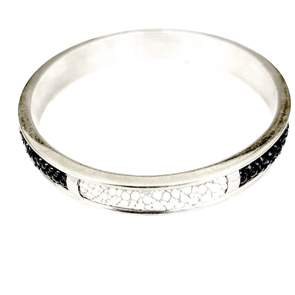 Stingray bangle in sterling silver