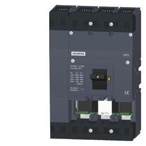 circuit breaker 3VT3 high breaking capacity Icu=65kA, 415V AC- 3VT3763-3AA46-0AA0