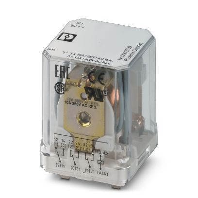 Single relay - REL-PR3-230AC/3X1 - 2903709