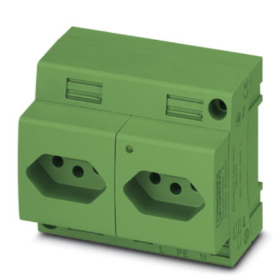 Double socket - EO-N/UT/LED/DUO/GN - 0804145