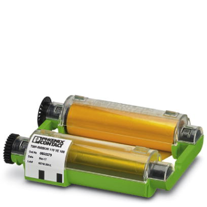 Ink ribbon cartridge - TMP-RIBBON 110 YE 100 - 0803379