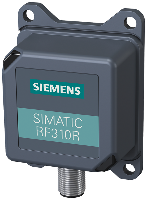 SIMATIC RF300  Reader RF310R (GEN2) with RS422 interface (3964R)  IP67. -25 to +70 °C, 55x 75x 30 mm, with integrated antenna  Special version with ro motor - 6GT2801-1BA10-0AX1
