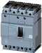 circuit breaker 3VA1 IEC frame 160 breaking capacity class H Icu=70kA @ 415V 4-pole, line protection TM210, FTFM, In=100A overload protection Ir=100A motor - 3VA1110-6GD42-0AA0