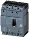 circuit breaker 3VA1 IEC frame 160 breaking capacity class H Icu=70kA @ 415V 4-pole, line protection TM240, ATAM, In=100A overload protection Ir=70A.. motor - 3VA1110-6FF46-0AA0