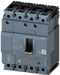 circuit breaker 3VA1 IEC frame 160 breaking capacity class H Icu=70kA @ 415V 4-pole, line protection TM240, ATAM, In=100A overload protection Ir=70A.. motor - 3VA1110-6EF42-0AA0