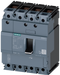 circuit breaker 3VA1 IEC frame 160 breaking capacity class S Icu=36kA @ 415V 4-pole, line protection TM210, FTFM, In=125A overload protection Ir=125A motor - 3VA1112-4ED42-0AA0