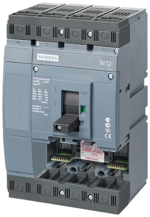 circuit breaker 3VT2 high breaking capacity Icu=65kA, 415V AC- 3VT2725-3AA46-0AA0