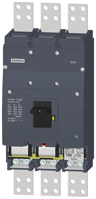 circuit breaker 3VT4 high breaking capacity Icu=65kA, 415V AC- 3VT4710-3AA30-0AA0