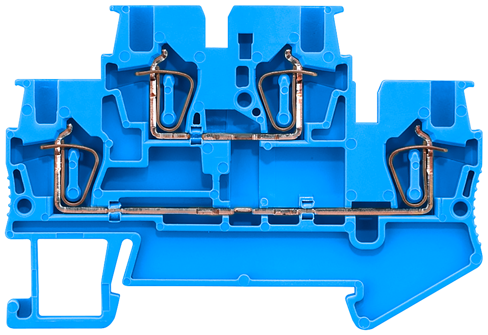 Two-tier terminals with spring-loaded connection, Cross-section: 0.14-1.5 mm2, Width: 4.2mm, Color: blue motor - 8WH2020-0AE01