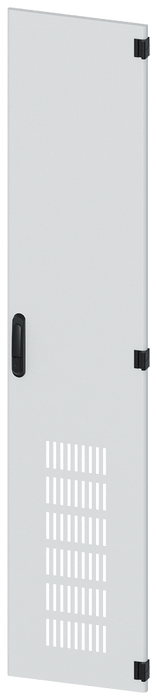 Door, right, with ventilation openings, IP20, H: 2000 mm, W: 400 mm, RAL 7035, ... motor - 8MF1040-2UT14-1BA2