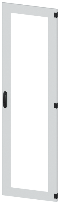 Door, right, inspection window, IP55, H: 2200 mm, W: 600 mm, RAL 7035, degree of protection 1 motor - 8MF1260-2UT14-0BE2