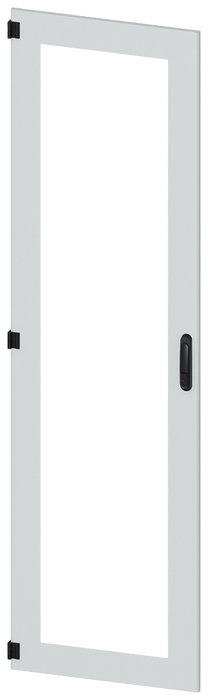 Door, left, inspection window, IP55, H: 2200 mm, W: 600 mm, RAL 7035, degree of protection 1 motor - 8MF1260-2UT15-0BE2