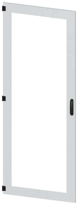 Door, left, inspection window, IP55, H: 2200 mm, W: 800 mm, RAL 7035, safety class 1 motor - 8MF1280-2UT15-0BE2